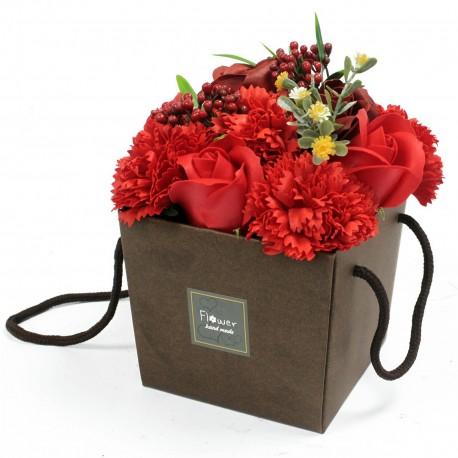 Mydlové Kvety - Červená Ruža a Klinček