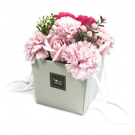 Mydlové Kvety - Ružová Ruža a Klinček
