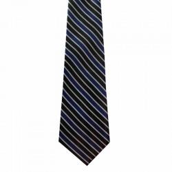 Kravata čierno-modrá pásikovaná