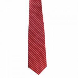 Kravata červená pásikovaná