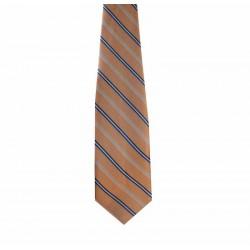 Kravata svetlo-oranžová pásikovaná