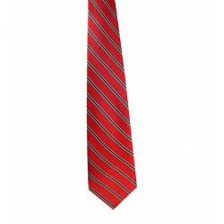 Kravata červená s pásikmi