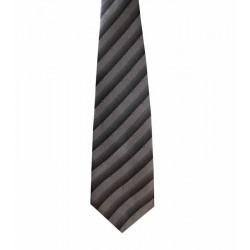 Kravata šedá pásiky a kocky