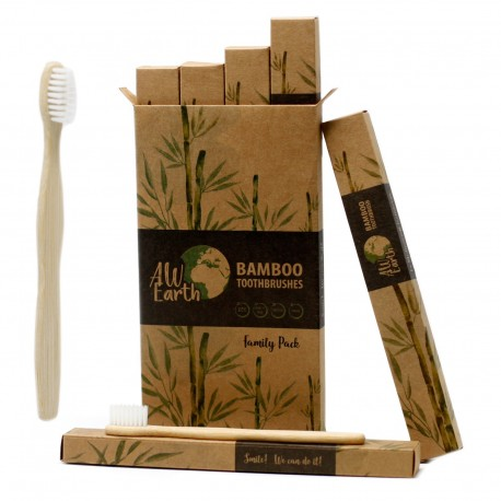 Bambusová zubná kefka - Biela