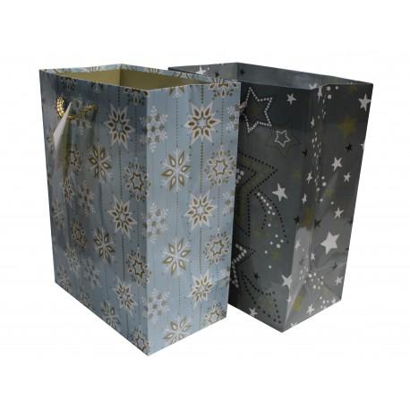Darčeková taška vločky a hviezdy