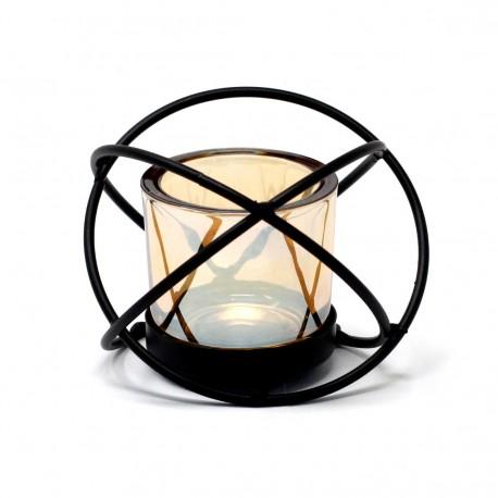 Kovový svietnik na jednu sviečku Guľa
