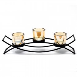 Kovový svietnik na tri sviečky Silueta