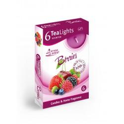 Čajové vonné sviečky (6ks) Berries