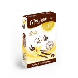 Čajové vonné sviečky (6ks) Vanilka