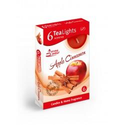 Čajové vonné sviečky (6ks) Jablko a škorica