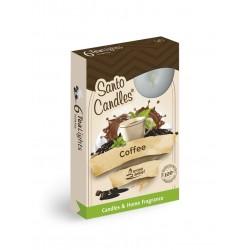 Čajové vonné sviečky (6ks) Káva