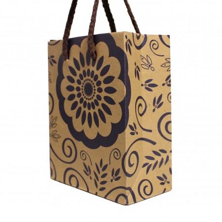 Darčeková taška modrý vzor malá