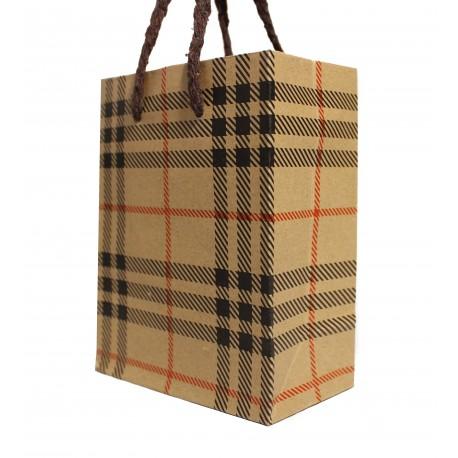 Darčeková taška károvaný vzor malá