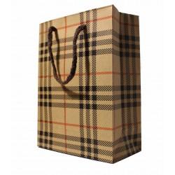 Darčeková taška károvaný vzor