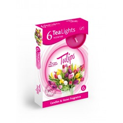 Čajové vonné sviečky (6ks) Tulipány