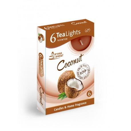 Čajové vonné sviečky (6ks) Kokos