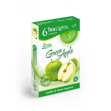Čajové vonné sviečky (6ks) Zelené Jablko