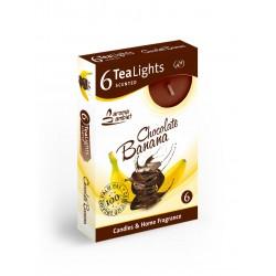 Čajové vonné sviečky (6ks) Banán v čokoláde