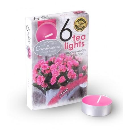 Čajové vonné sviečky (6ks) Ruže