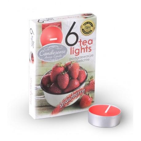Čajové vonné sviečky (6ks) Jahoda
